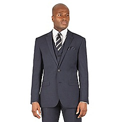 The Collection - Navy semi plain tailored fit 2 button suit jacket