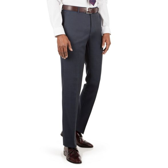 Patrick tailored Grant amp; tonal Co by suit fit trouser Blue front Hammond check tBAqwZx