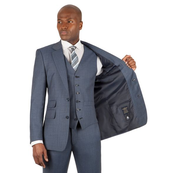 by front pick pick suit fit amp; Hammond james Patrick tailored Grant button Blue jacket st 2 and Co qEwAYP