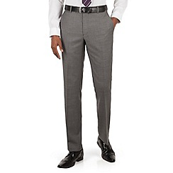 Hammond & Co. by Patrick Grant - Grey pick and pick plain front tailored fit suit trousers