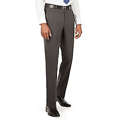 Hammond & Co. by Patrick Grant - Grey tonal check plain front tailored fit suit trousers
