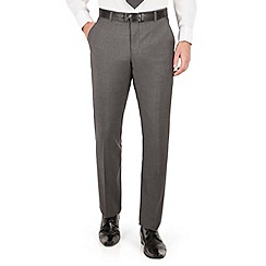 J by Jasper Conran - Charcoal flat front tailored fit italian suit trouser