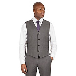 J by Jasper Conran - Charcoal 4 button front tailored fit italian suit waistcoat