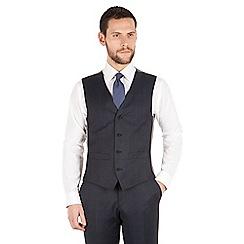 J by Jasper Conran - J by Jasper Conran Blue windowpane check 4 button front tailored fit luxury suit waistcoat