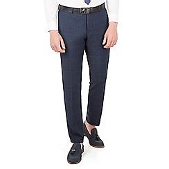 Red Herring - Navy tonal check slim fit trouser