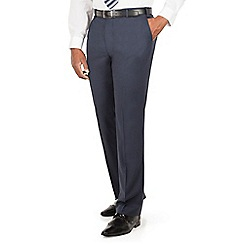Centaur Big & Tall - Navy semi plain big and tall suit trouser