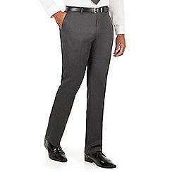 Centaur Big & Tall - Charcoal semi plain big and tall suit trouser