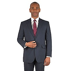 Centaur Big & Tall - Navy stripe big and tall 2 button front regular fit suit jacket