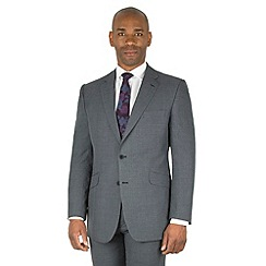 Centaur Big & Tall - Grey check big and tall 2 button front regular fit suit