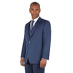 Centaur Big & Tall - Bright blue big and tall 2 button regular fit suit
