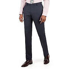 Racing Green - Blue check tailored fit suit trouser