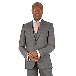 Racing Green - Grey tonal check tailored fit 2 button suit