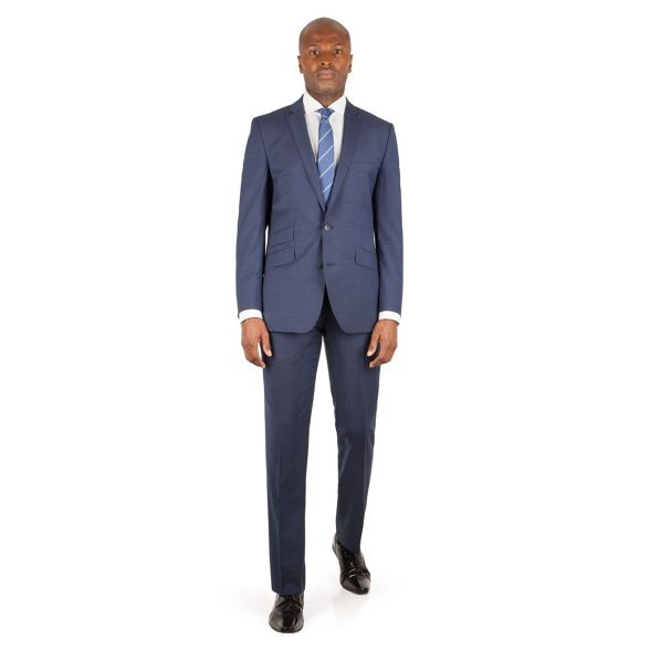 Blue kings check tonal slim Ben jacket button 2 Sherman suit front fit Tq51Uwz