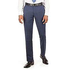 Ben Sherman - Blue tonal check slim fit kings suit trousers