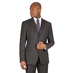 Stvdio by Jeff Banks - Stvdio by Jeff Banks Grey with charcoal windowpane 2 button front ivy league fit suit jacket