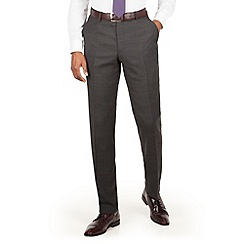 Stvdio by Jeff Banks - Stvdio by Jeff Banks charcoal windowpane flat front ivy league suit trouser