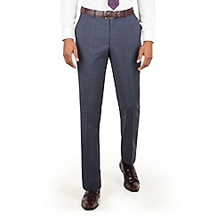 Stvdio by Jeff Banks - Stvdio by Jeff Banks teal check flat front ivy league suit trouser