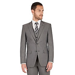 The Collection - Mid grey panama regular fit 2 button washable suit jacket