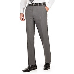 The Collection - Mid grey panama regular fit washable suit trousers