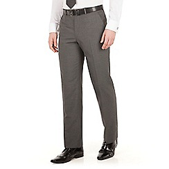 Scott & Taylor - Grey narrow stripe plain front regular fit suit trouser