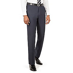 The Collection - Navy semi plain tailored fit suit trouser