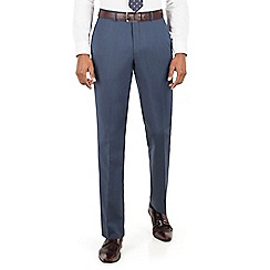 Hammond & Co. by Patrick Grant - Blue plain flat front tailored fit suit trouser
