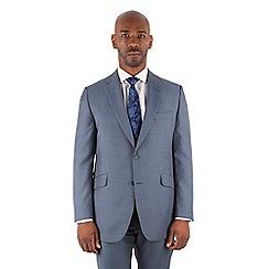 Centaur Big & Tall - Centaur Big & Tall Petrol pick and pick big and tall 2 button front regular fit suit jacket