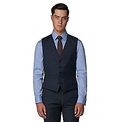 Racing Green - Deep blue pick and pick 5 button front waistcoat