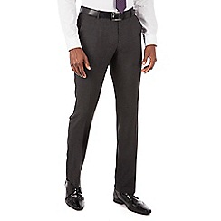 The Collection - Charcoal puppytooth tailored fit suit trousers