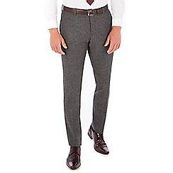Red Herring - Grey Donegal wool blend slim fit trousers