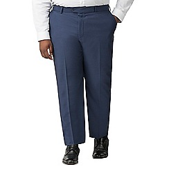 Centaur Big & Tall - Bright blue semi plain big and tall suit trousers
