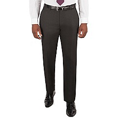 Centaur Big & Tall - Charcoal birdseye big and tall suit trousers