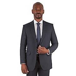 Centaur Big & Tall - Navy puppytooth big and tall 2 button regular fit suit jacket