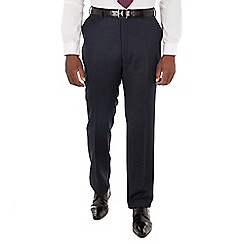Centaur Big & Tall - Navy flannel big and tall regular fit suit trousers