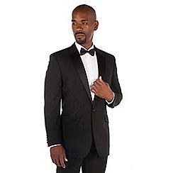 Centaur Big & Tall - Black wool blend big and tall 1 button regular fit dress wear suit jacket