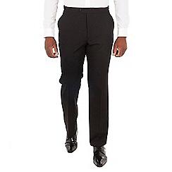 Centaur Big & Tall - Black wool blend big and tall regular fit dress wear trousers