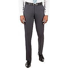 Ben Sherman - Charcoal plain front slim fit kings suit trouser