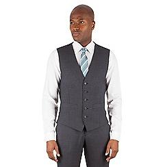 Ben Sherman - Charcoal plain slim fit kings suit waistcoat
