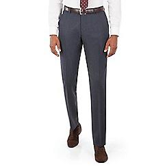 Ben Sherman - Blue textured plain front slim fit kings suit trousers