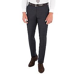 Ben Sherman - Navy heritage check wool blend super slim fit Camden suit trousers