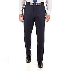Jeff Banks - Jeff Banks Blue flannel regular fit black label suit trouser