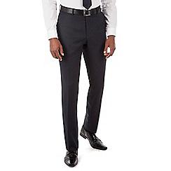 Hammond & Co. by Patrick Grant - Navy semi plain plain front tailored fit suit trouser