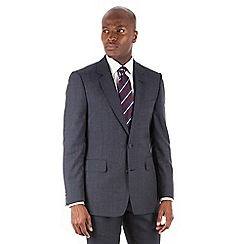 Hammond & Co. by Patrick Grant - Blue puppytooth 2 button front tailored fit St. James suit