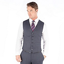 Hammond & Co. by Patrick Grant - Hammond & Co. by Patrick Grant Blue puppytooth 6 button tailored fit suit waistcoat
