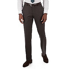 Hammond & Co. by Patrick Grant - Grey puppytooth plain front tailored fit suit trouser