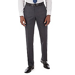 Hammond & Co. by Patrick Grant - Blue with rust check plain front tailored fit suit trousers
