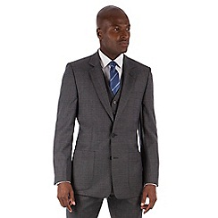 Hammond & Co. by Patrick Grant - Grey flannel check 2 button front tailored fit st James suit jacket