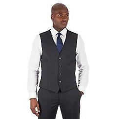 J by Jasper Conran - J by Jasper Conran Blue jaspe windowpane 4 button front tailored fit Italian suit waistcoat