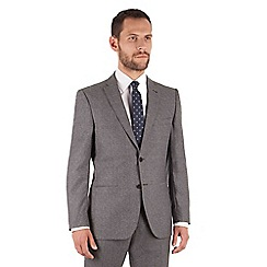 J by Jasper Conran - Grey textured 2 button front tailored fit luxury italian suit