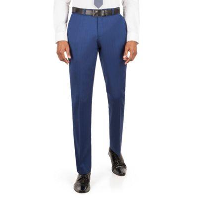 Ben Sherman   Bright Blue Plain Front Slim Fit Kings Suit Trousers by Ben Sherman